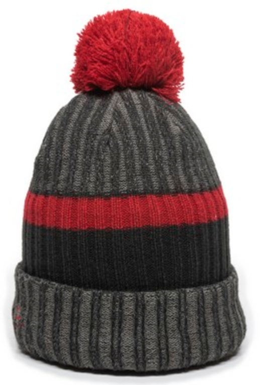 heathered rib knit watch cap with embroidery or sew on patch