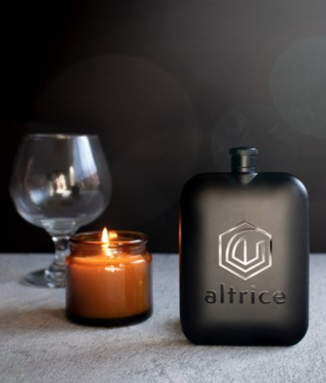 modern luxe engraved flask for tahoe christmas gift