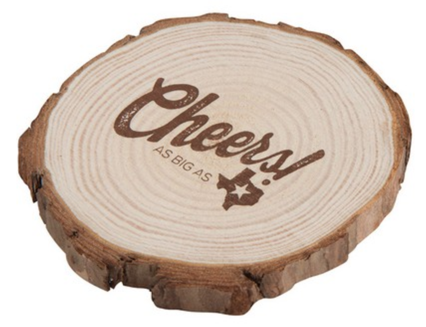 natural wood coaster for your reno tahoe truckee wedding