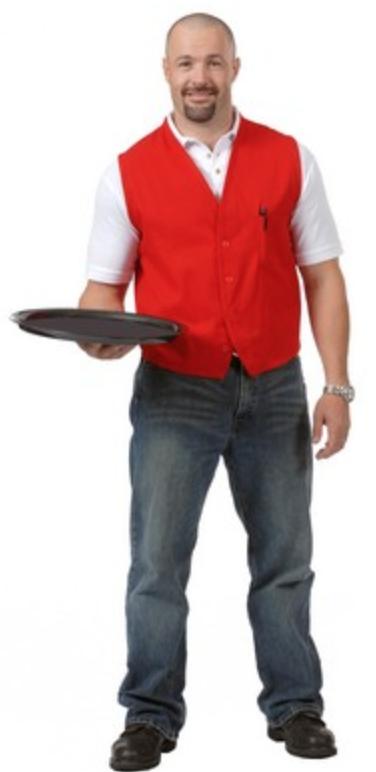 screen printed uniform vest for truckee tahoe restaurants