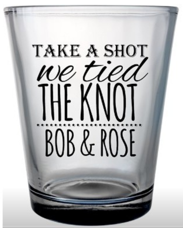 custom wedding shot glass