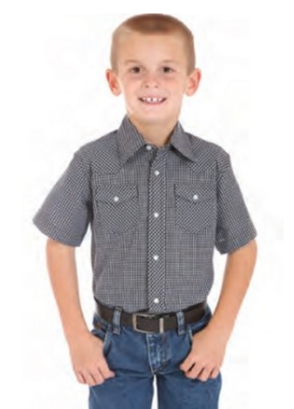 kids short sleeve button up embroidered shirt from reno tahoe promotions