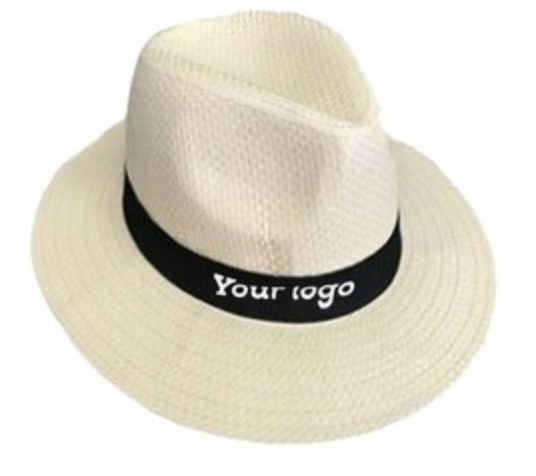 panama roll up hat with personalized printed ribbon from reno tahoe promotions