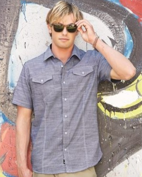 short sleeved embroidered button up shirt from reno tahoe promotions