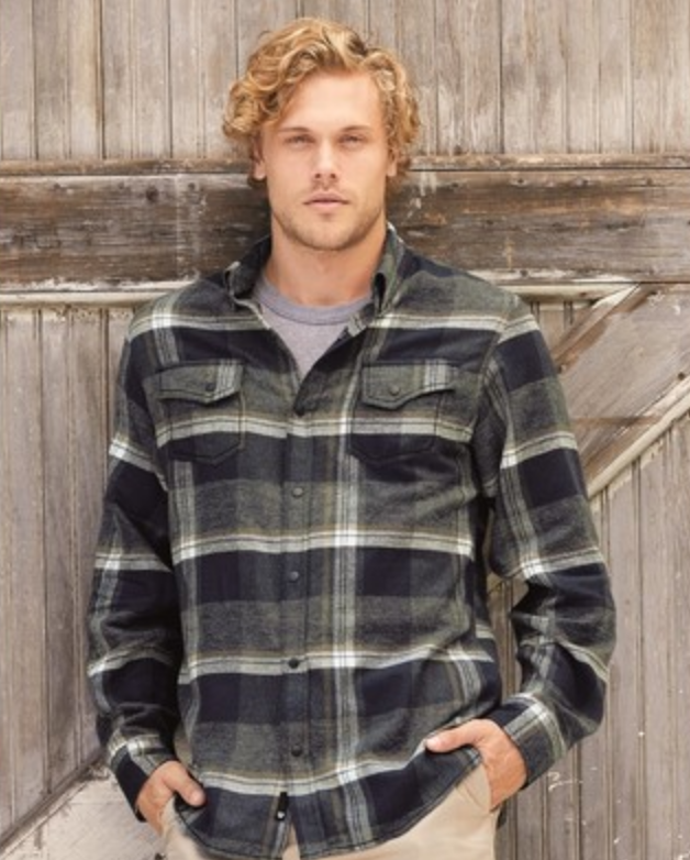 plaid embroidered button up shirt from reno tahoe promotions
