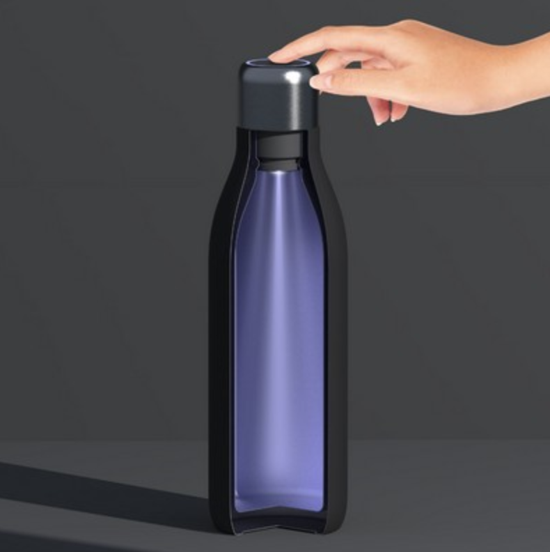screen printed uv light water bottle from reno tahoe promotions