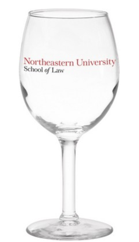 screen printed personalized wedding wine glasses