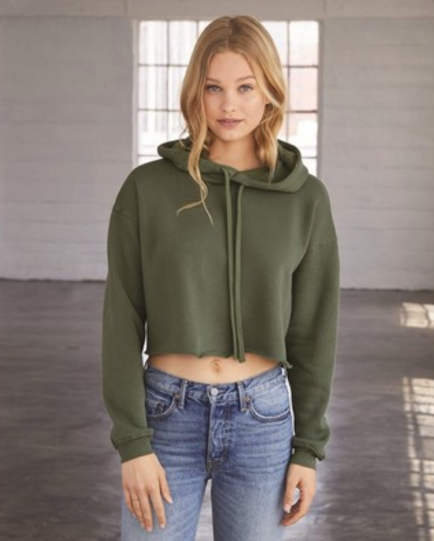 screen printed cropped sweatshirt  from reno tahoe promotions