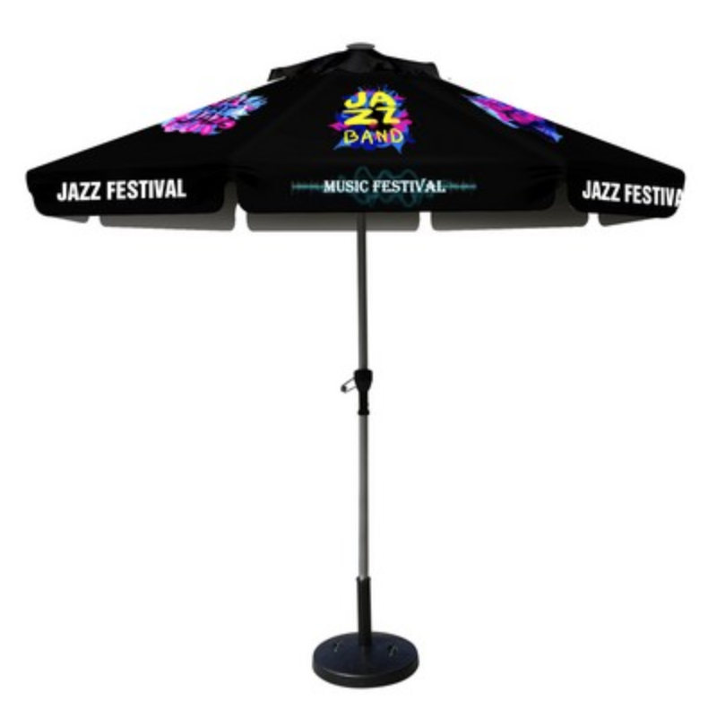 branded market umbrella shade structure from reno tahoe promotions