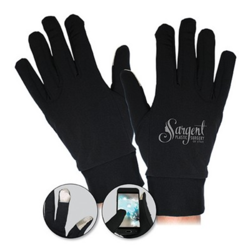 touch screen phone compatible gloves screen printed by reno tahoe promotions