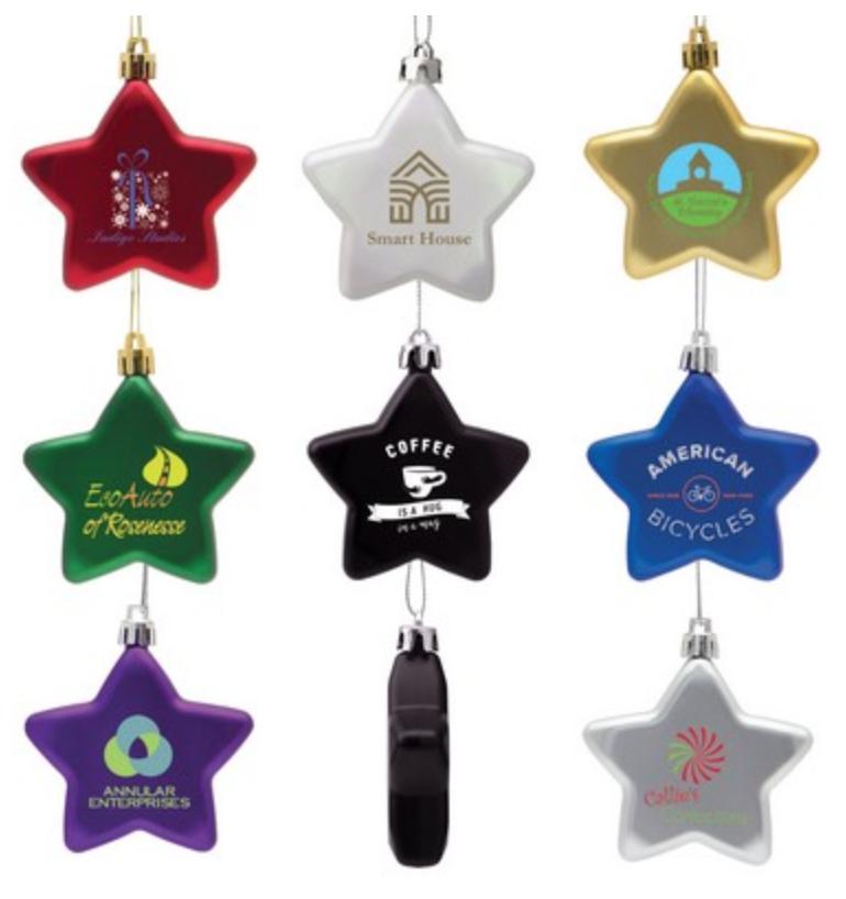 flat star christmas ornament for employee stocking stuffer,