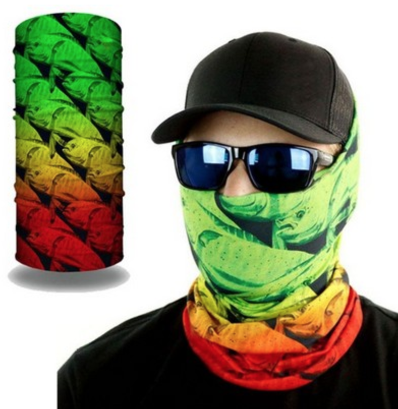 2 layer gaiter mask with full color print for truckee uniform wear,