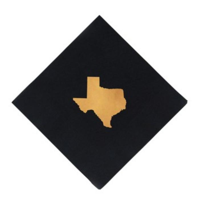 black personalized wedding napkin