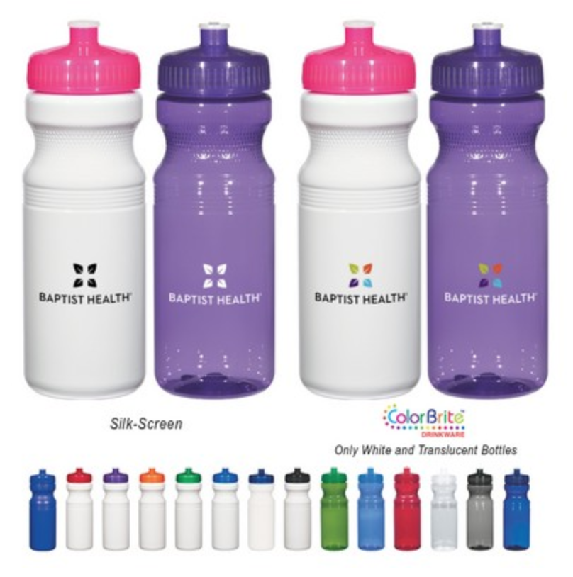 clear bike screen printed water bottles from reno tahoe promotions