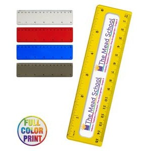 "Translucent 6"" Ruler - Full Color Print"