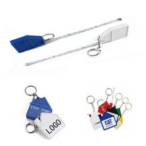 House Shape Measuring Tape Keychain
