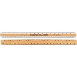 "Graphic Arts Double Bevel Ruler with Pica & Agate Scales (18"")"
