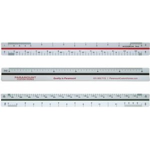 "Triangular Architectural Ruler / High Impact Styrene (6"")"