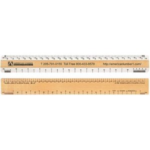 "Double Bevel Architectural Ruler / AJ Scale Group (12"")"