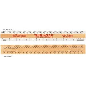 "Double Bevel Architectural Ruler / AJJ Scale Group (12"")"