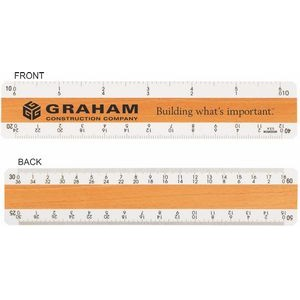 "4 Bevel Civil Engineering Ruler / Double Numbered (6"")"