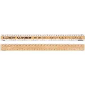 "Double Bevel Architectural Ruler / AJ Scale Group (18"")"