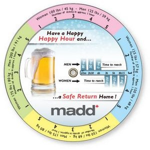 "Blood Alcohol Concentration Wheel Calculator (4.25"" dia.), Full Color"