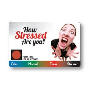 Stress Card - .020 White Gloss Vinyl Plastic with Full Color Front & Back