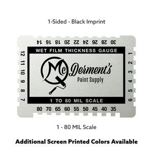 "Metalphoto Aluminum Wet Film Gauge (3.25""x2.25"") 1-sided"