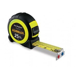 "25' X 1"" Tape measure, acrylic steel blade, magnetic hook, fractional graduations"