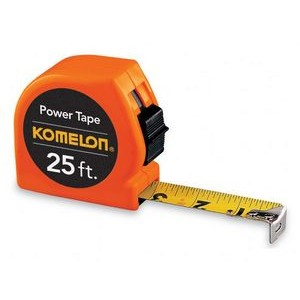25' Tape measure, acrylic coated steel blade