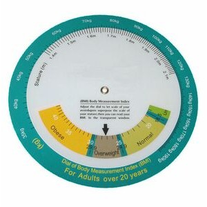 Body Mass Index Wheel